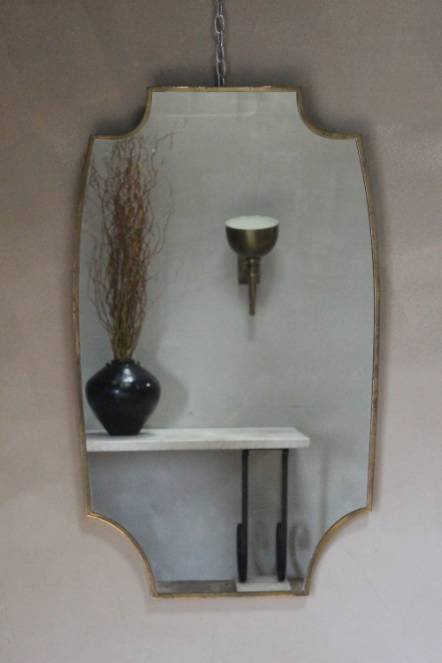Antique A 1960s Italian brass mirror