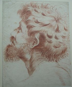 Antique Richard Earlom (1743-1822). Head Study. Pastel