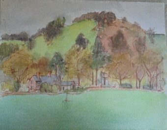 Antique Vita Gollancz, British (1926-2009),  Watercolour