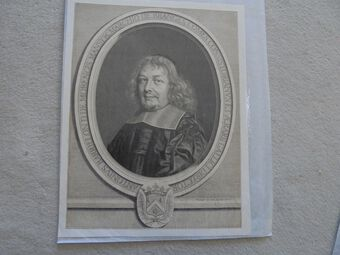 Antique Nanteuil,Robert 1623 or 1630-1678 French portrait artist