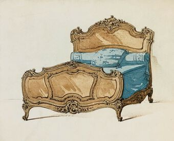 Antique Design for or after A Bed, Ca.1800, Pastel
