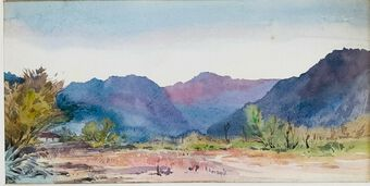 Antique Wm. Gresley (1886-1893) Watercolour, Kumaon, India