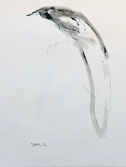 Antique Carl Dahl (flourish 1990- ). American, Arizona. Study of a Bird