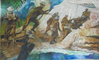 Antique Artist: Cyril J. Ross OBE (1891-1973). War Wonded. Oil/Acrylic, board