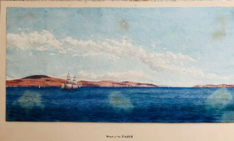 Antique Wm. Gresley (1886-1893) Watercolour, Mouth of the TAGUS