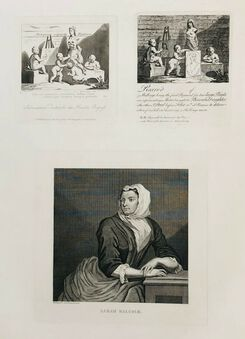 Antique William Hogarth (1697-1764), Sarah Malcolm & two Others