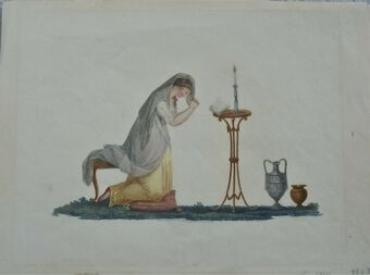 Antique Worship - 18th Century watercolour