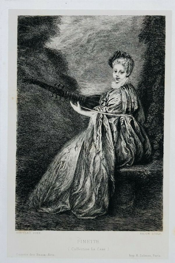 "Rajon after A. Watteau (1684-1721), ""Finette"""