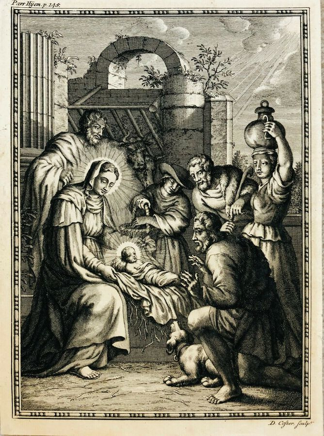 "D. Cofter, ""The Nativity"", Engraving/Etching"