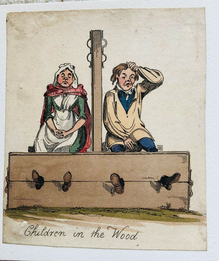Busby's Caricature Ca. 1820s.  Children in the Wood