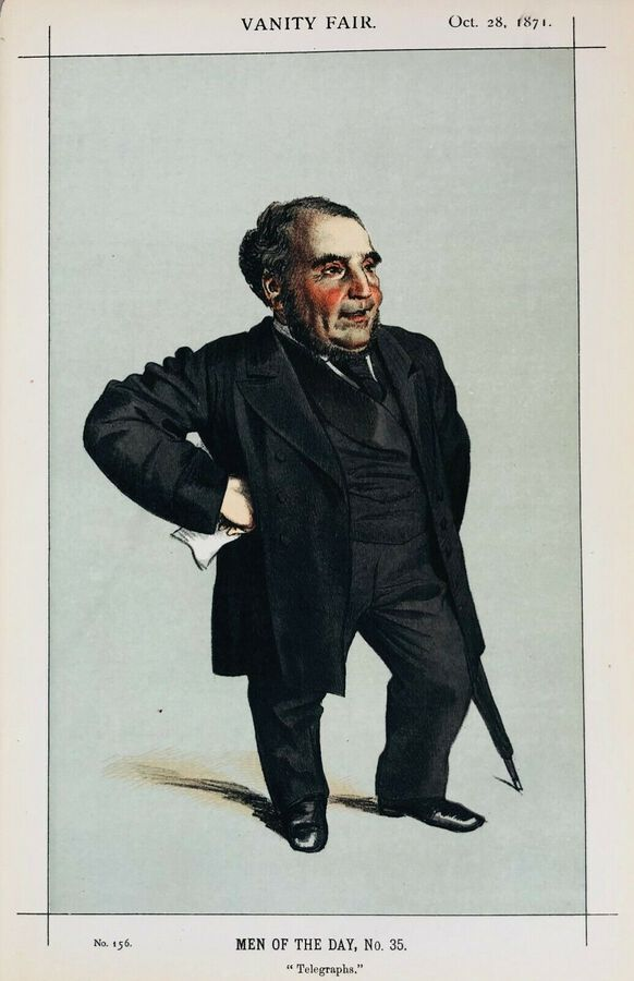 "Vanity Fair Prints,1871, ""Telegraphs"", 1871"