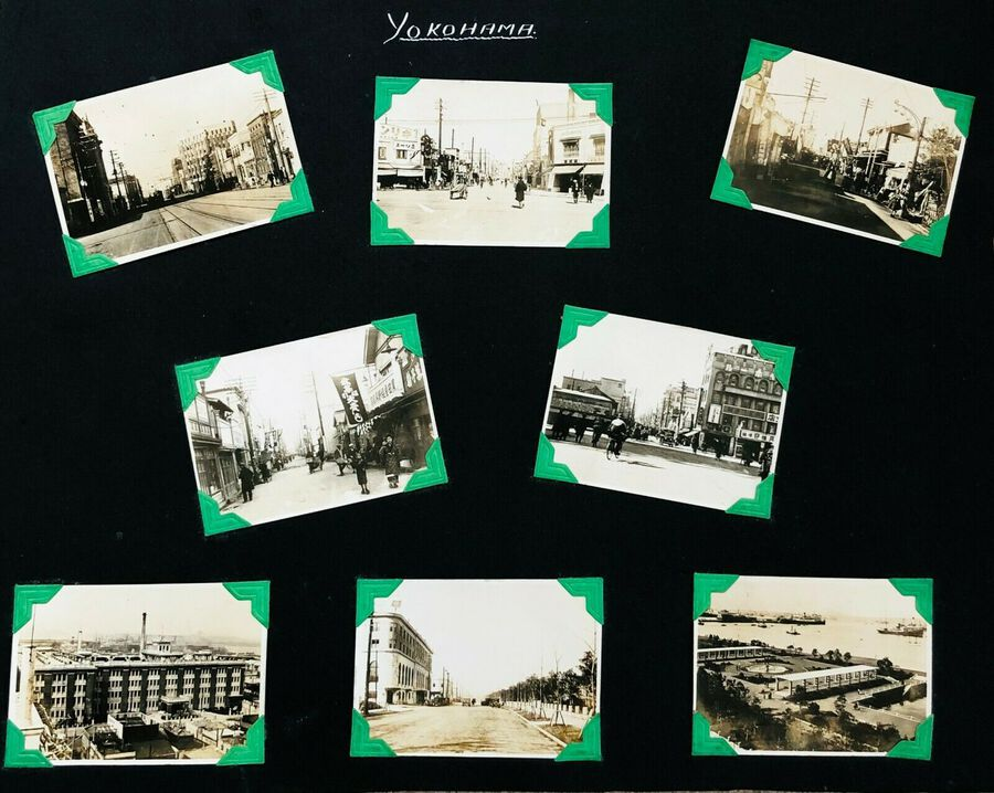 View of Yokohama, 8 Photographs, c.1930s