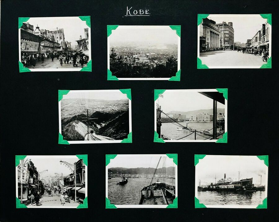 View of Kobe, 8 Photographs, c.1930s