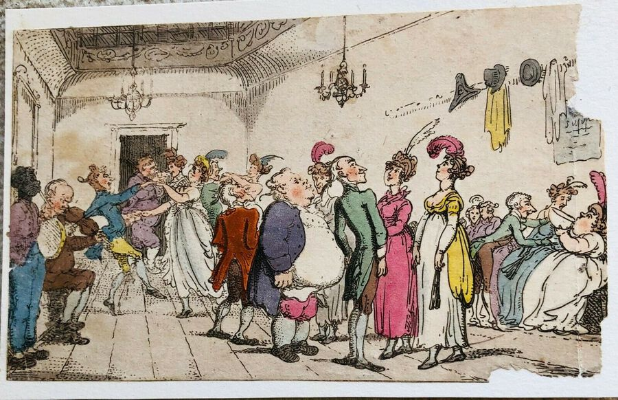 Busby's Caricature Ca. 1820s.  The Invitation