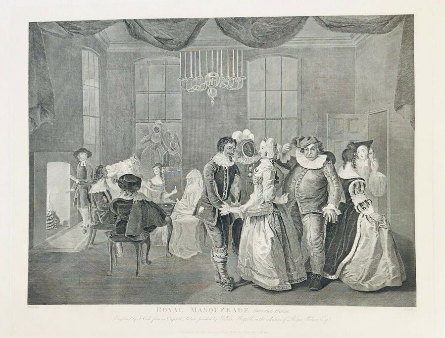 William Hogarth (1697-1764), Royal Masquerade - Somerset House 1805