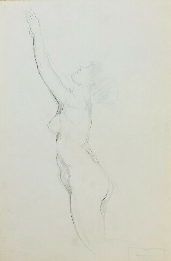 William Greengrass (1896-1970), Study of a Female Nude, Recto/Verso
