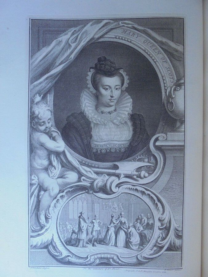J. Houbraken ( 1698 – 1780), after J. Oliver. Mary Queen of Scots. Print  1738
