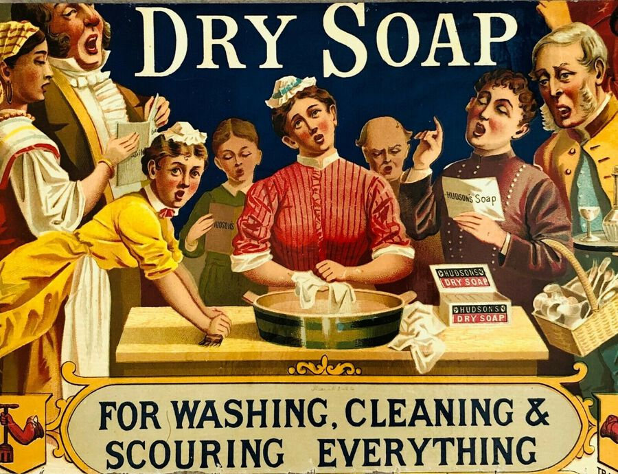 "Artist:  Unknown to Seller, ""Dry Soap"", ca.1900"
