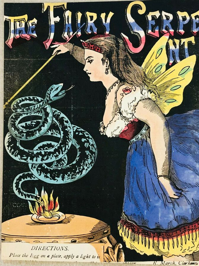 "Artist:  Unknown to Seller, ""The Fairy Serpent"", ca.1900"