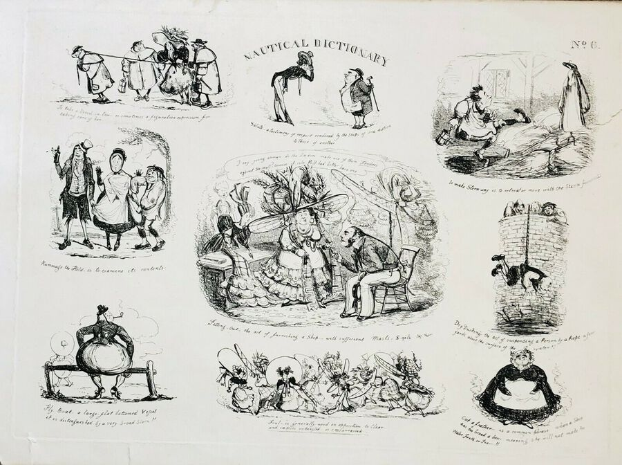 "Unknown Artist to Seller, ""Nautical Dictionary"", Caricatures"