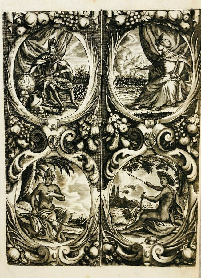 "Artist:  Unknown to Seller, ""The Four Continents, ca.1700"
