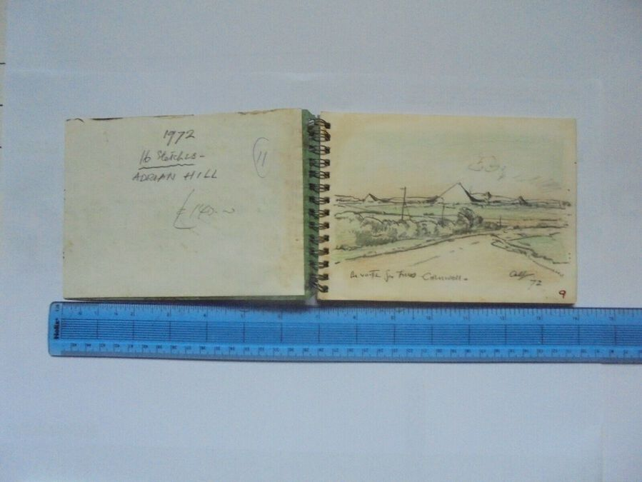 Antique Adrian Hill Sketches 1972 - Sketches of Cornwall