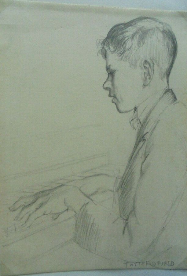 G.Tattersfield - Drawing of a Piano Player