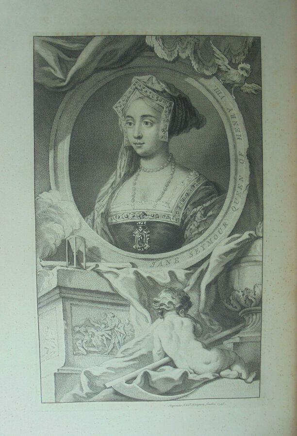J. Houbraken ( 1698 – 1780), after Holbein. Jane Seymour. Print  1738