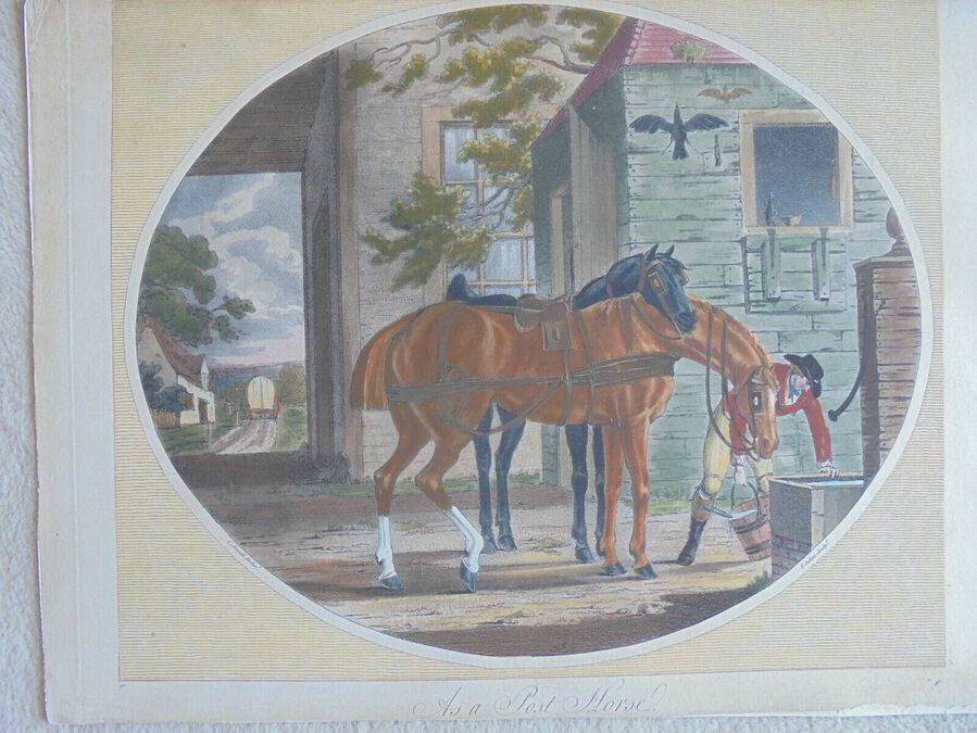 Francis Jukes after Charles Ansell - 'As a Post Horse'