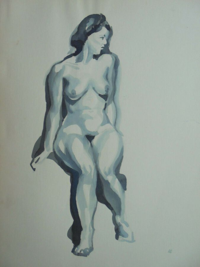William Greengrass (1896-1970). Female Nude. Pen & Ink & Wash