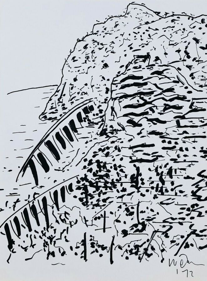 Michael Werner (1912-1989), Pen & Ink, Abstract Landscape