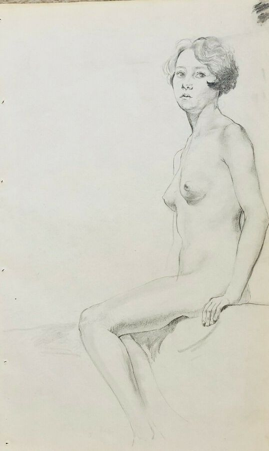 William Greengrass (1896-1970), Study of a Female Nude, Pastel