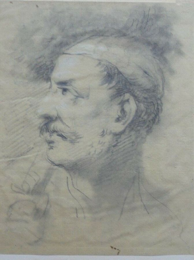 Richard Earlom (1743-1822). Head of an Oriental Warrior. Pastel