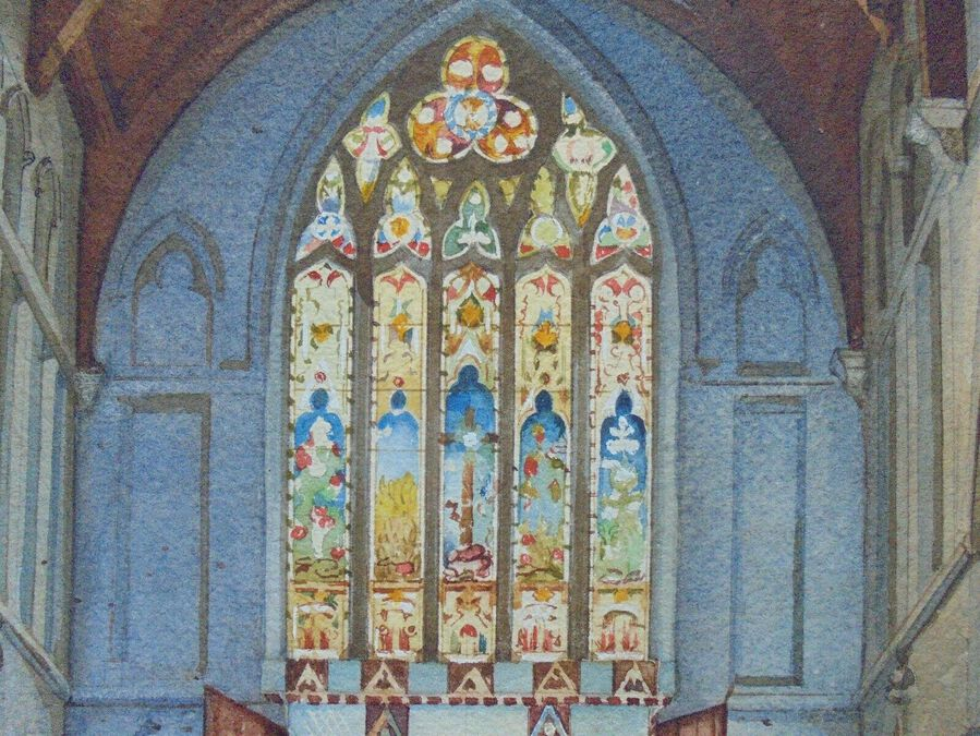 Antique Stained glass in a Church