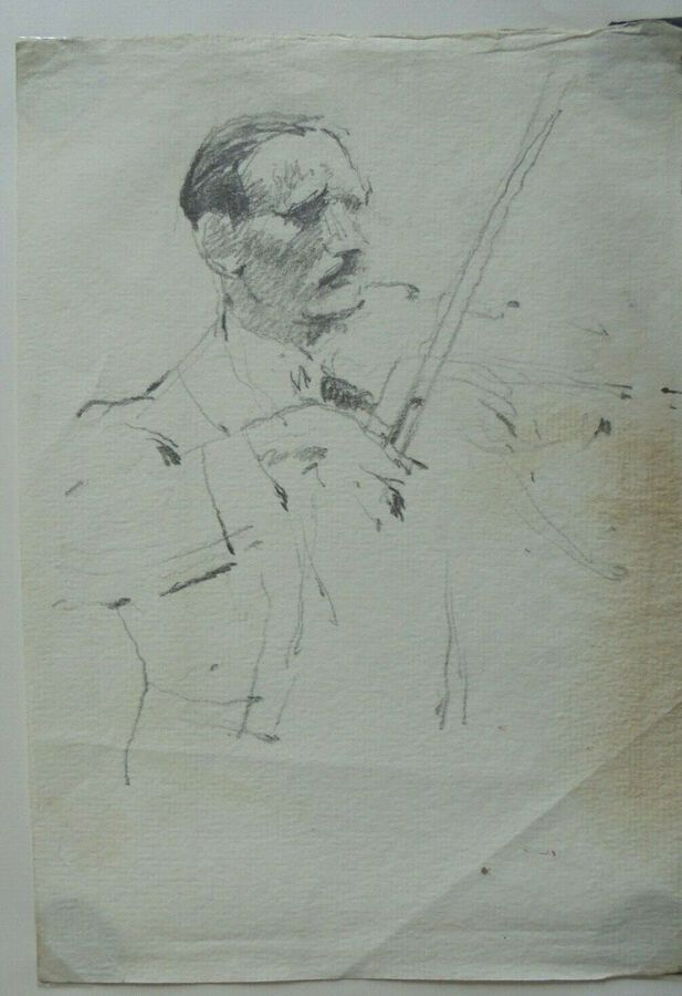 Gordon Tattersfield - Drawing of a Violinist