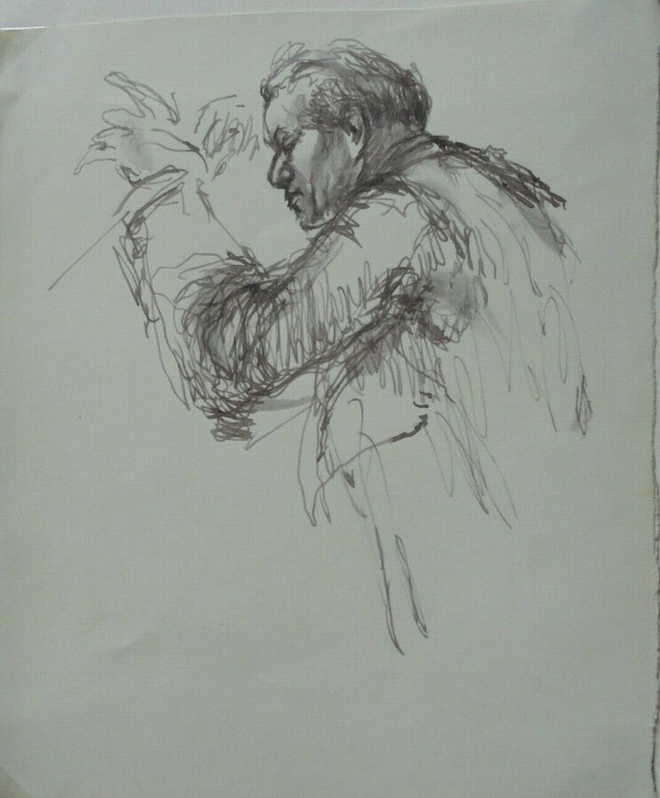 Gordon Tattersfield - Drawing of a Conductor (facing left)