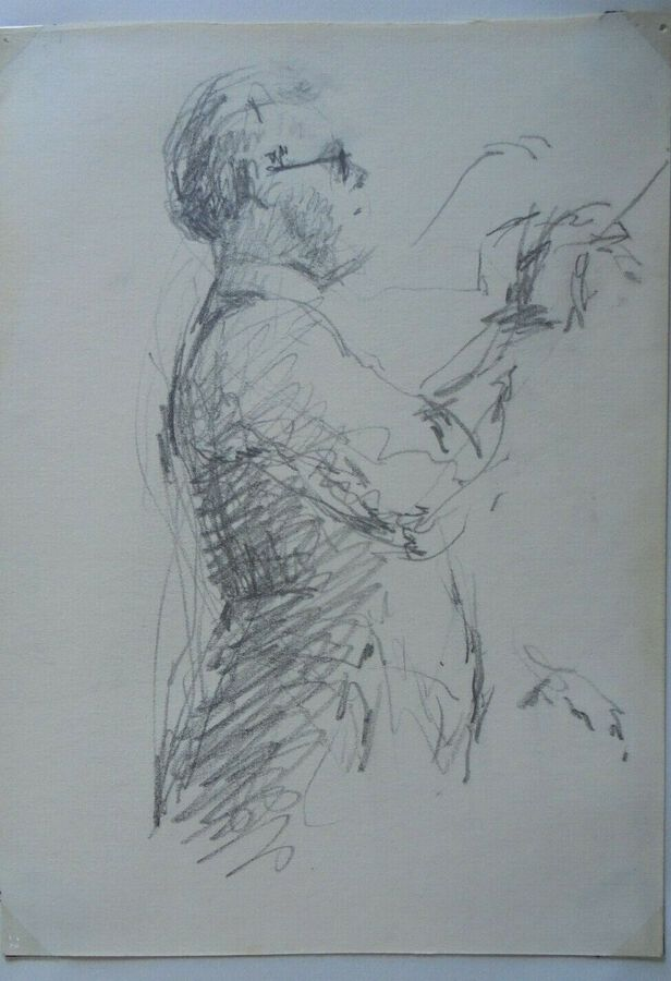 Gordon Tattersfield - Drawing of a Conductor (with glasses facing right)