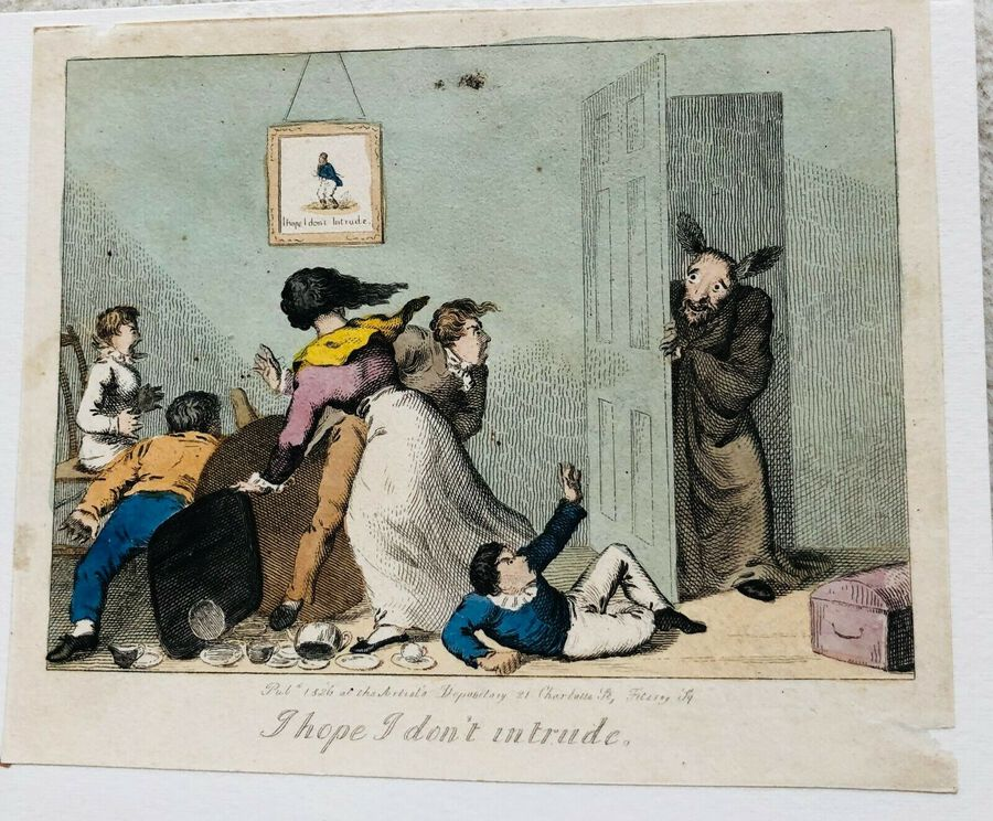 Busby's Caricature Ca. 1820s.  I hope I don't intrude