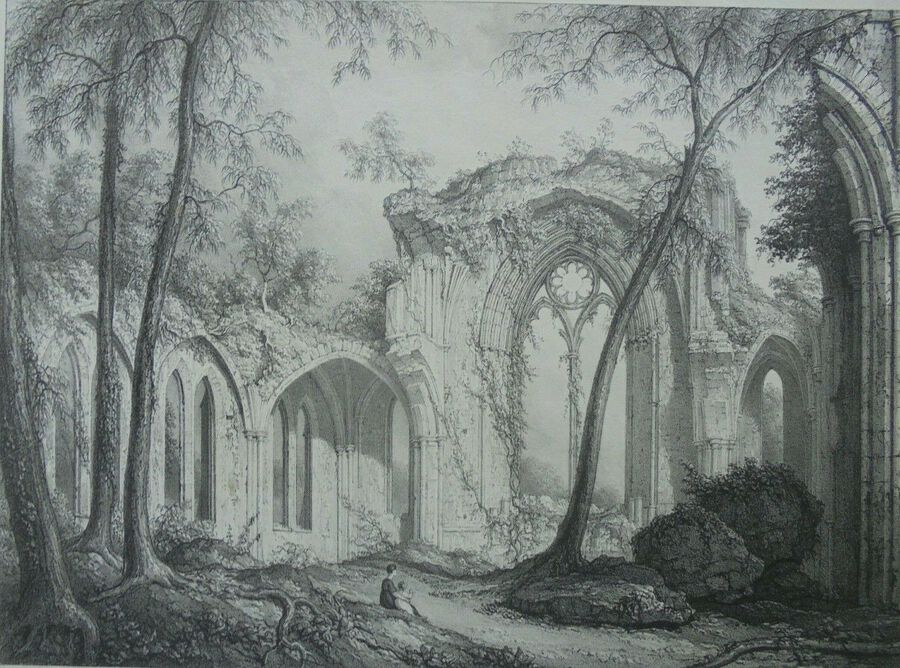 Netley Abbey, The East Window - William Westall ARA (1781 – 1850)