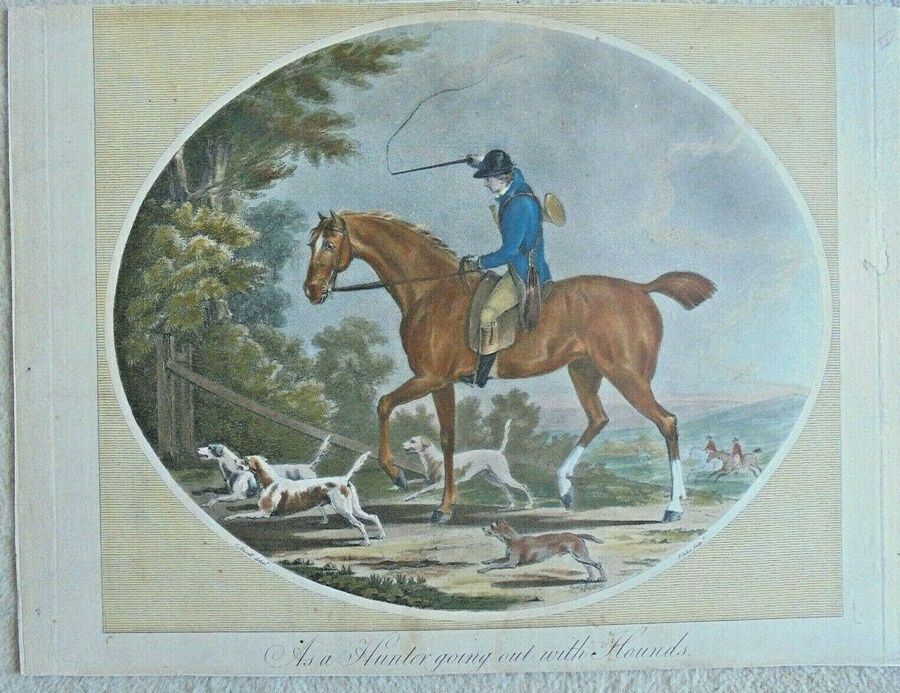 Francis Jukes after Charles Ansell - 'As a Hunter going out with hounds'
