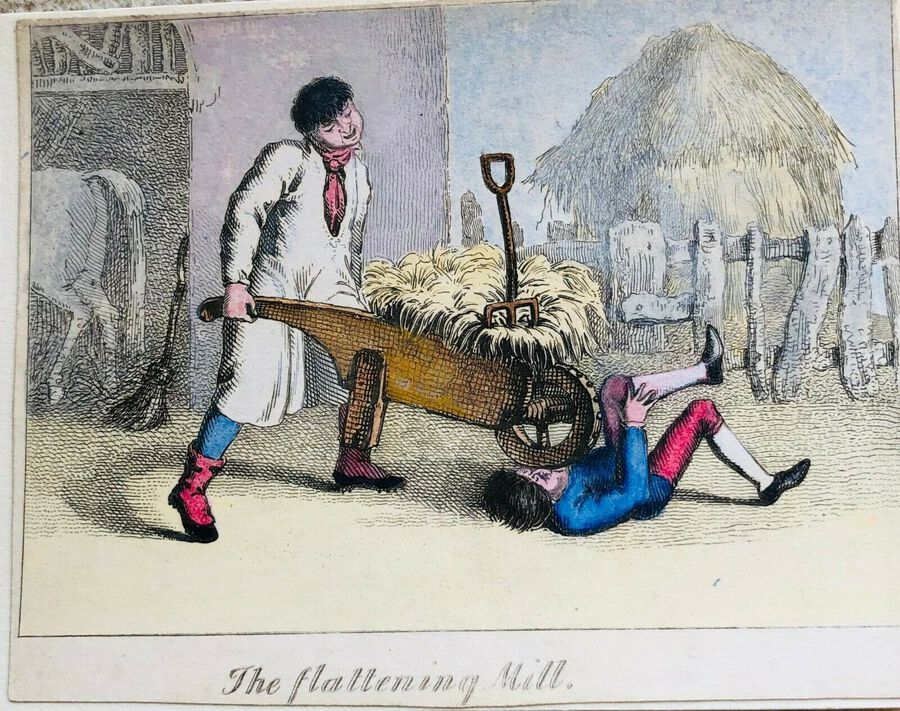 Busby's Caricature Ca. 1820s. The flattening Mill