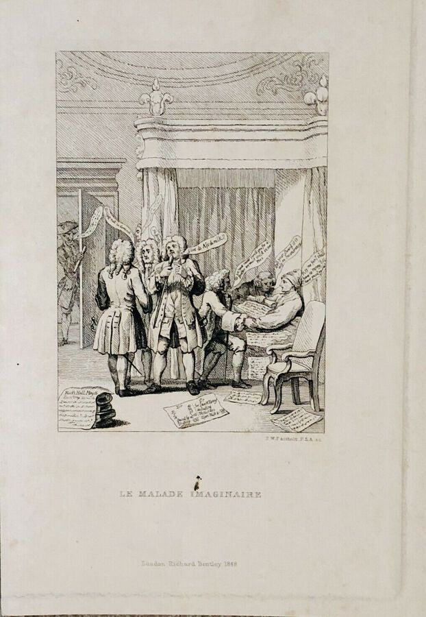 Antique Artist:  Unknown to Seller, Le Malade Imaginaire or the Consultation. Print.